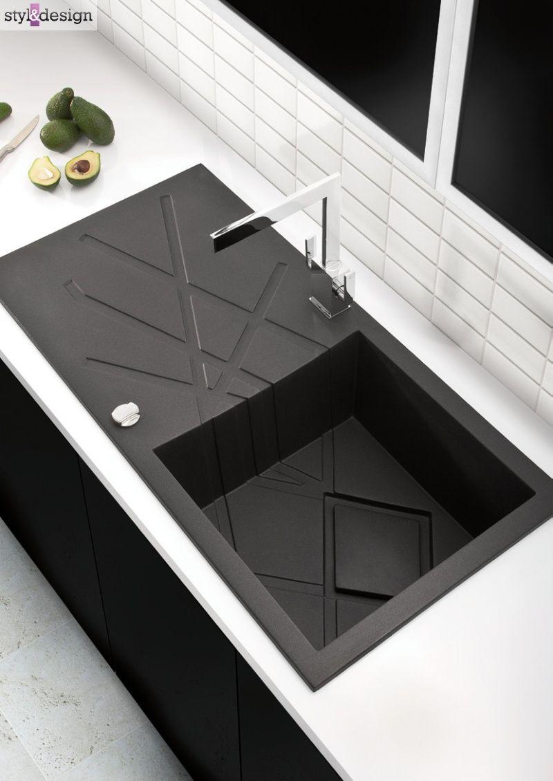 Kitchen Sink Black: Modern Black Kitchen Sink