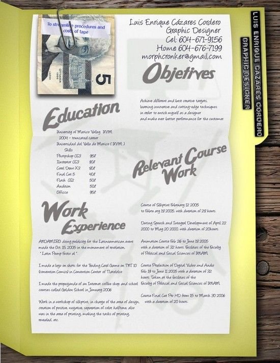 Round-up Of 35 Artistic Resume (CV) Design Ideas - 18 Miss - best free online resume builder