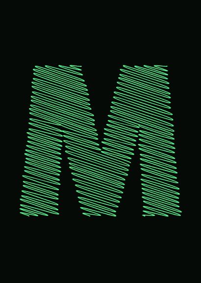 Letra M mayúscula de la tipografía: A Bebedera. #Typography #Freefont #deFharo #Creative #Fonts #Display