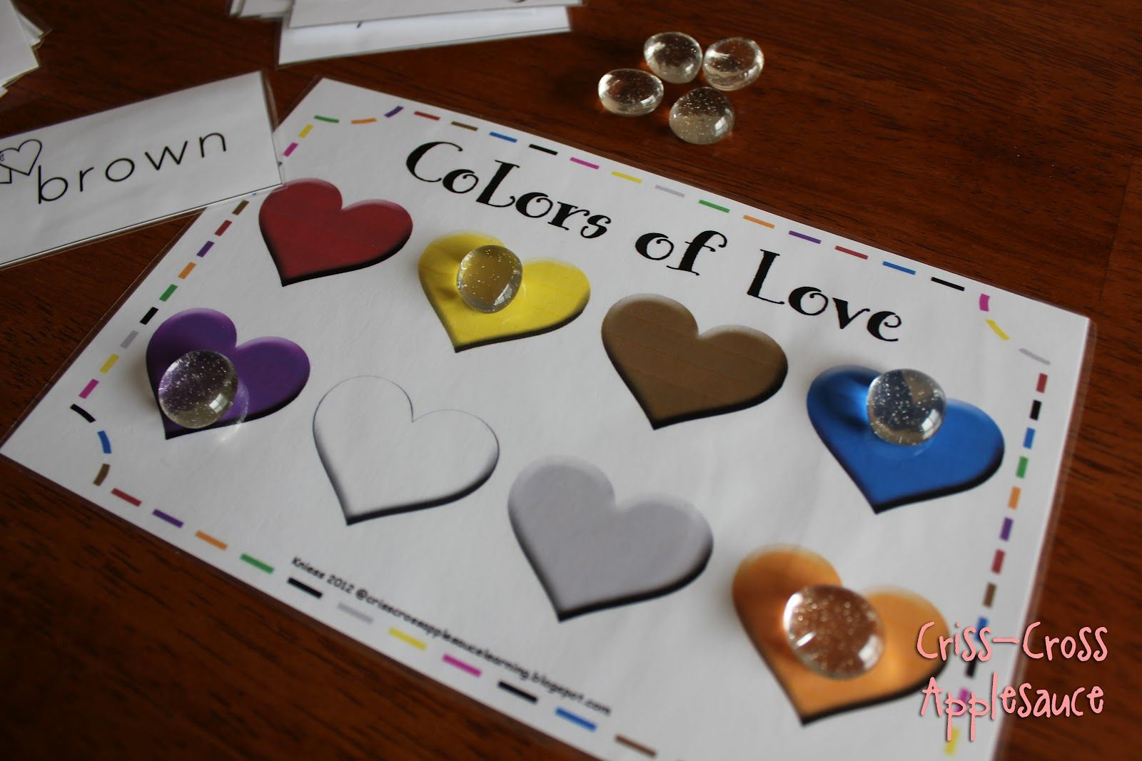 Criss Cross Applesauce Colors Of Love Sight Word Game