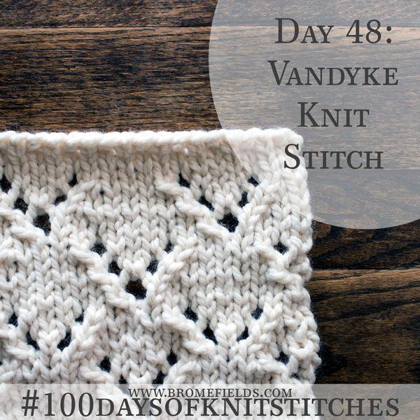 How To Knit Lace Knit Stitch Vandyke Video Knitting Pinterest
