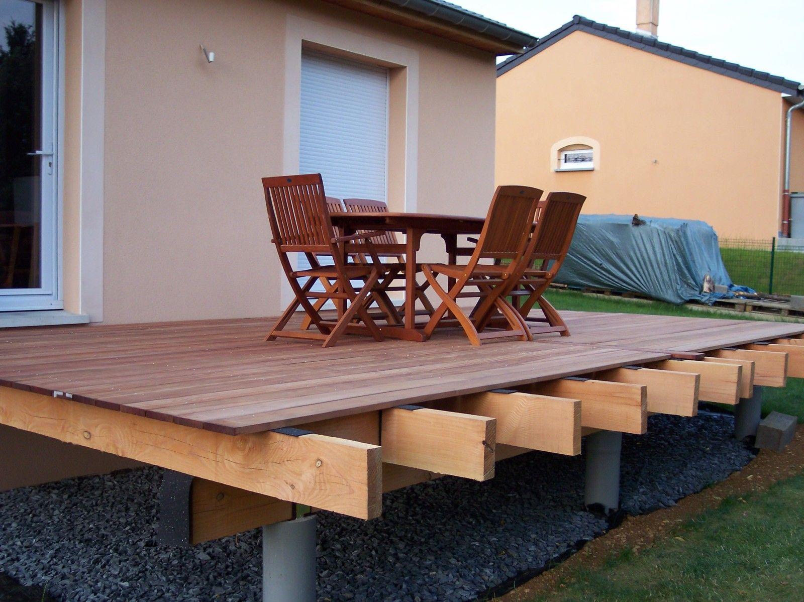 Construire Une Terrasse En Bois Surelevee album photo | construire terrasse bois, terrasse bois, patio