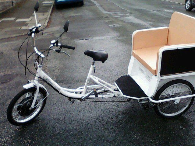 Electric Rickshaw Tricycle Utility Vehicle Pick-Up Trike New