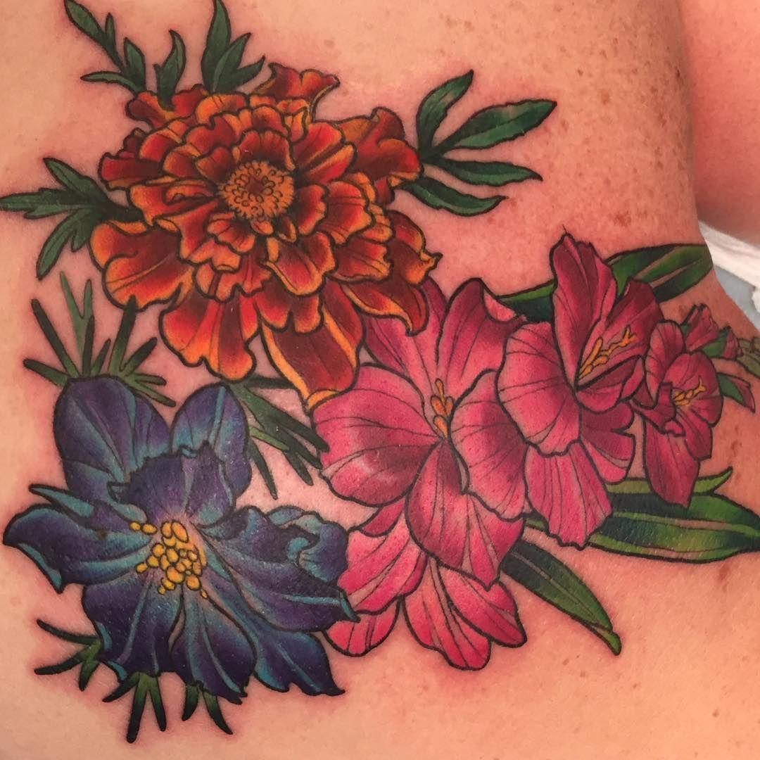 Minus The Pink Flowers Owl Tatts Pinterest Gladioli Tattoo