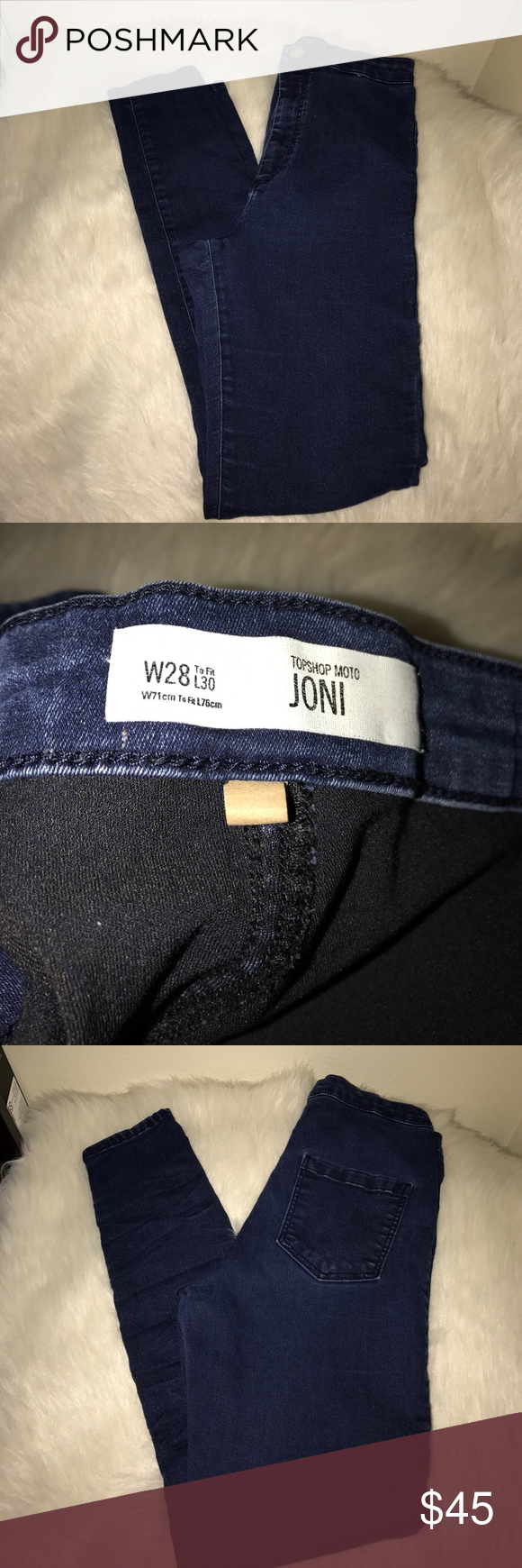 Topshop Topshop Joni Jeans. Dark denim. W 28 L 30. Used - in good condition. Topshop Pants Skinny