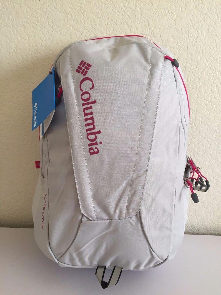 258811dd9fbf Columbia women backpack light grey pink 18.5