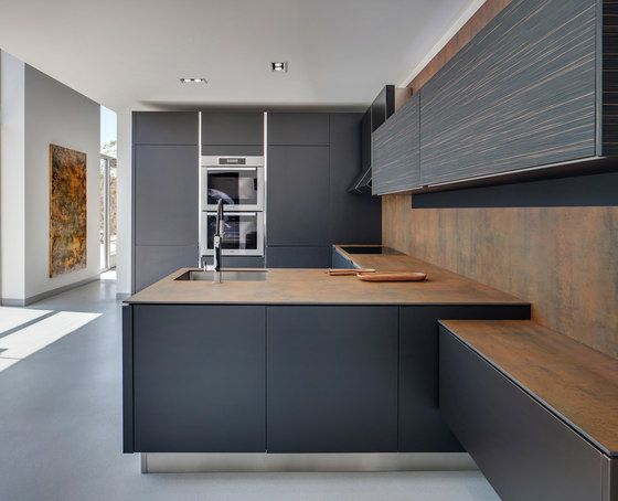 Contempory Kitchen Inspiration Charcoal Cabinetry With Timber Stunning Condo Kitchen Design Design Inspiration