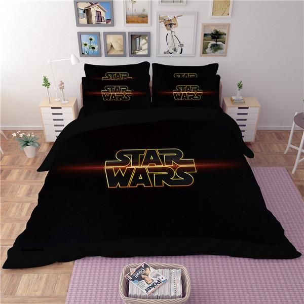Single//US Twin Bed Quilt Doona Duvet Cover set Dark Force Disney Star Wars