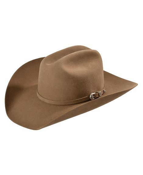 Justin 6X Spur Fawn Fur Felt Cowboy Hat - LOW Crown!!  df77f19f4e3