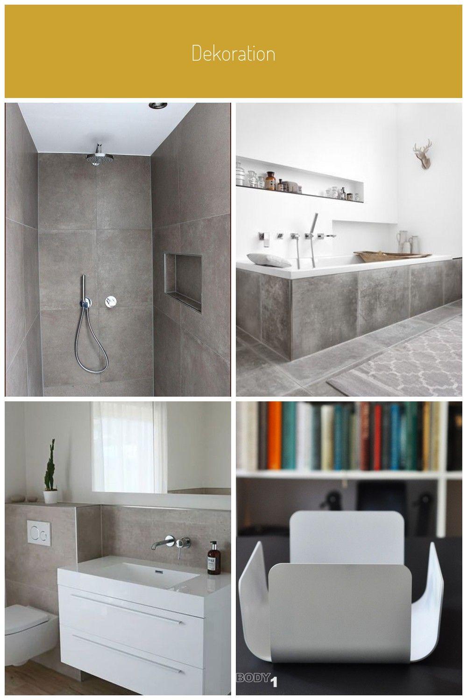 Modernes Zeitloses Badezimmer Mit Praktischen Nischen Fliesen In