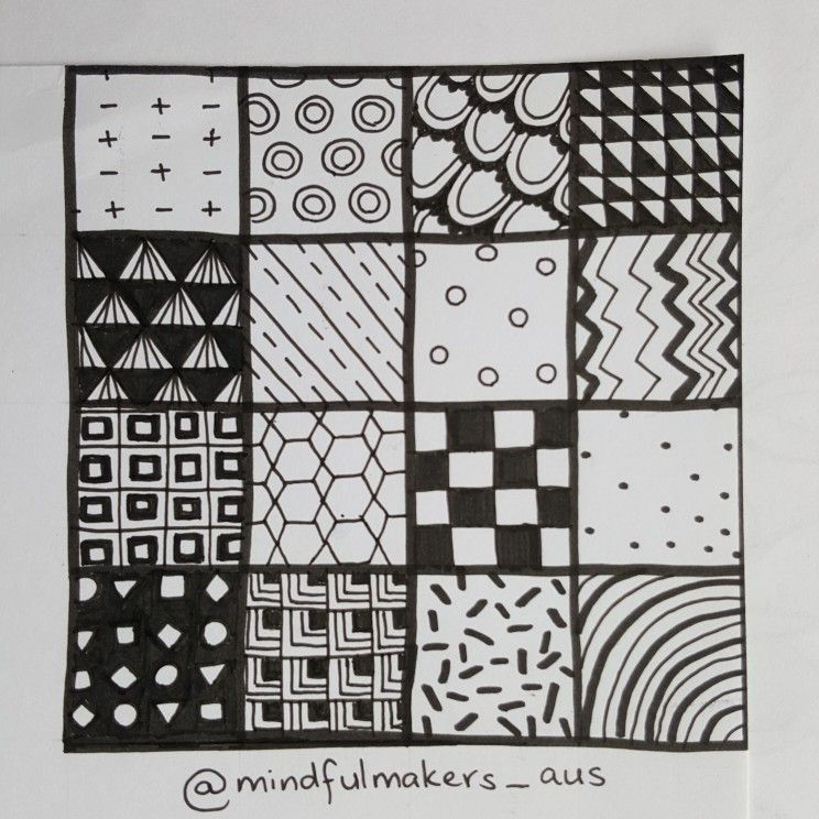Zentangle Patterns Easy By Mindful Makers Aus Zentangle