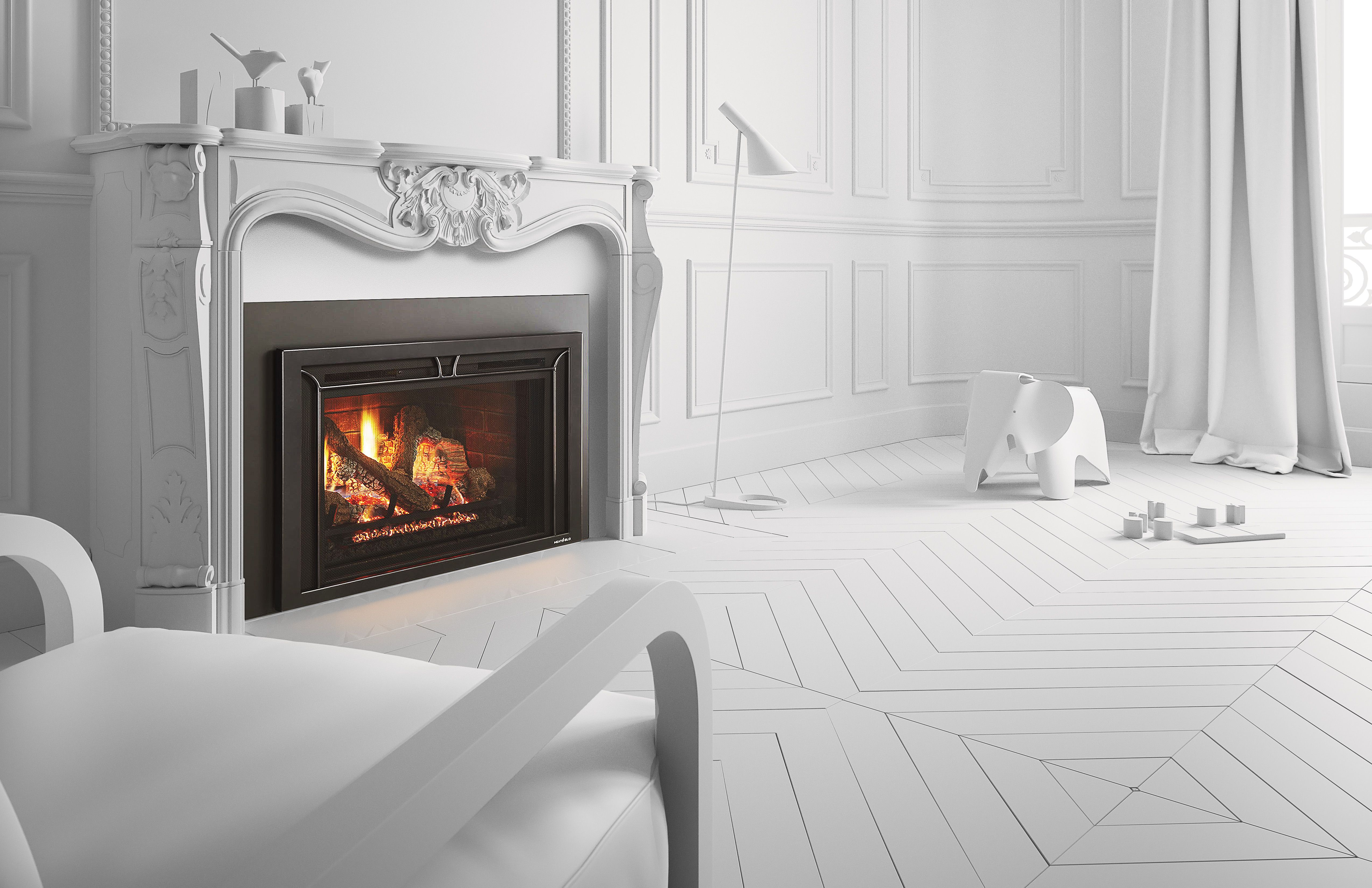 Heat Glo Escape I35b Gas Fireplace With Iron Age Black By