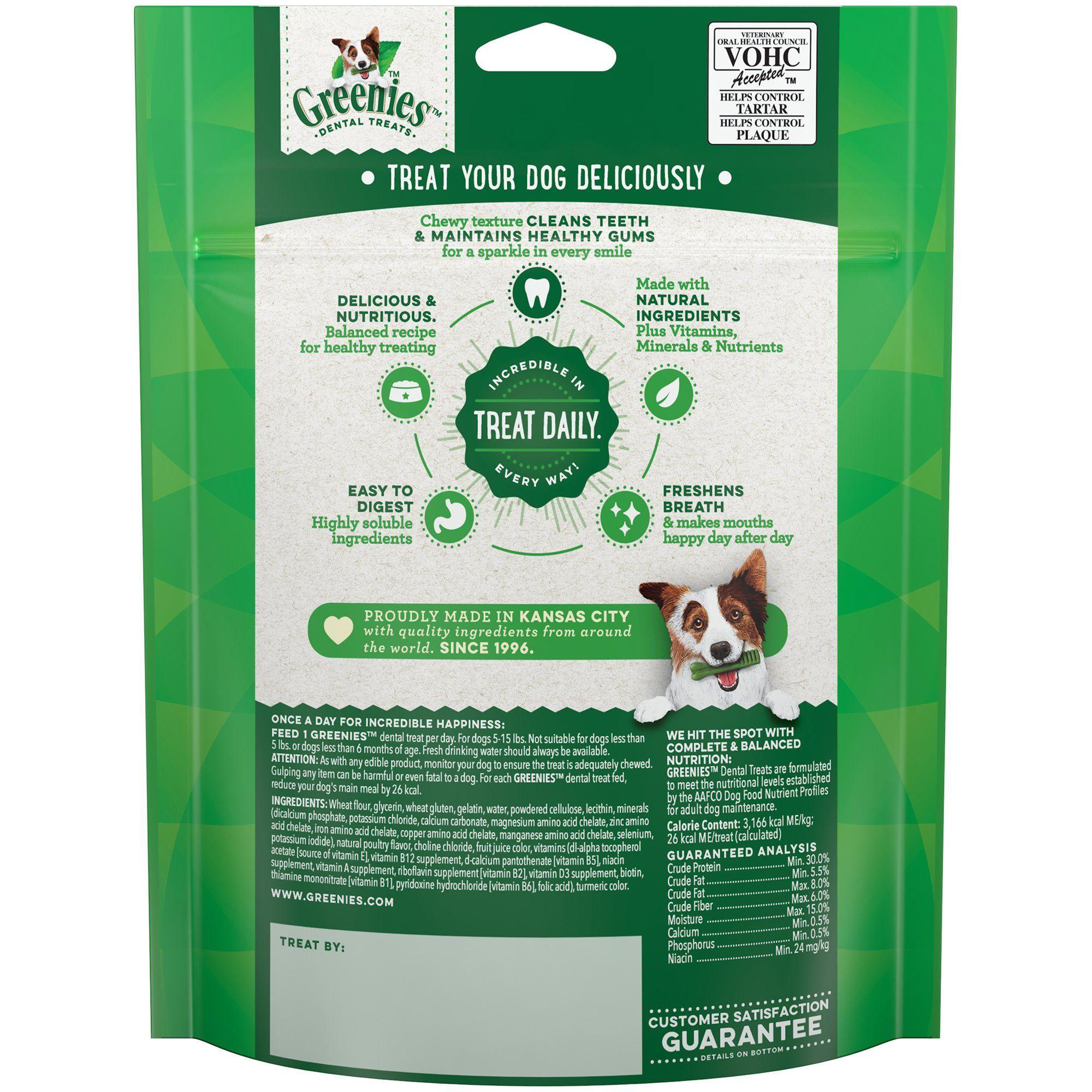 Greenies Original Teenie Dental Dog Treats 6 Oz Count Of 22 Greenies Dog Treats Dog Treats Dog Chews