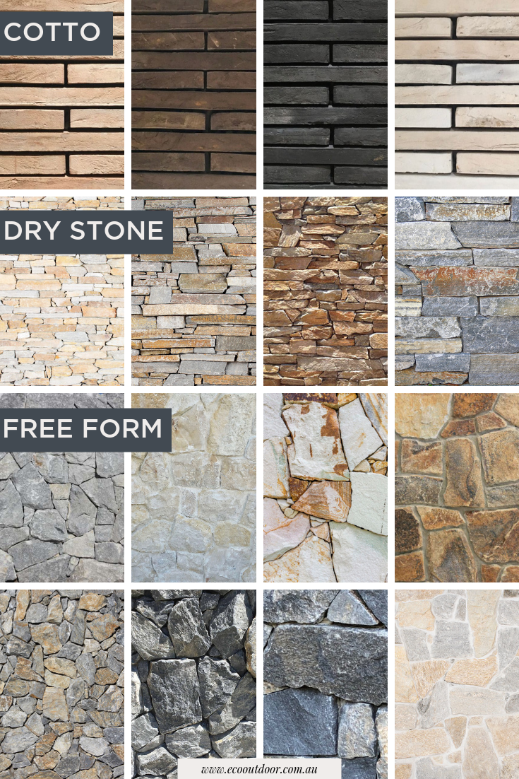 Eco Outdoor Specialise In The Supply Of Natural Stone Flooring And Walling Explore Our Walli Stone Exterior Houses Natural Stone Flooring Faux Walls