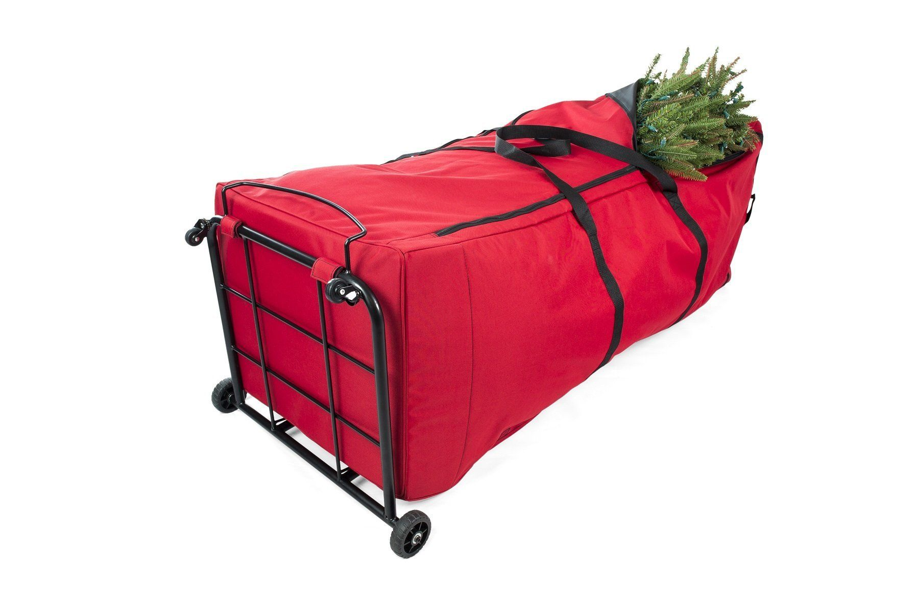 Santas Bags Upright 9 Ft Tree Storage Duffel Bag With Front Handle Bar And Rear Metal Handle Christmas Tree Storage Bag Tree Storage Bag Christmas Tree Storage