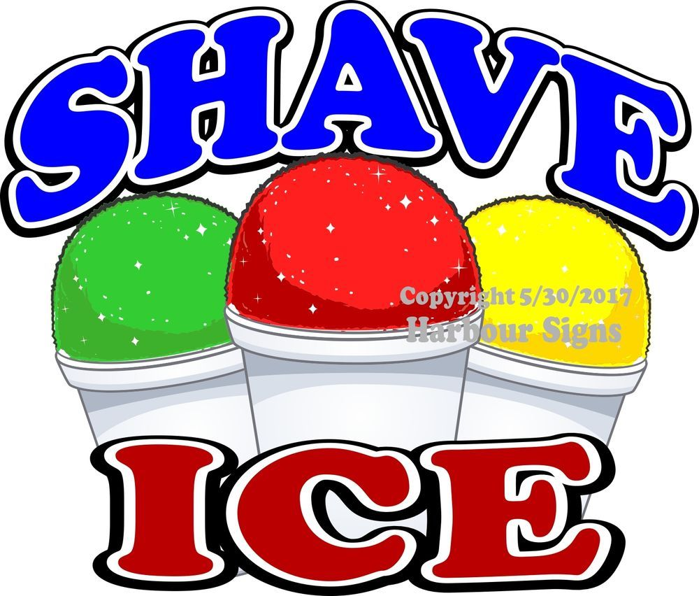 Shave Ice DECAL Monkey Concession Food Truck Vinyl Sticker Choose Your Size