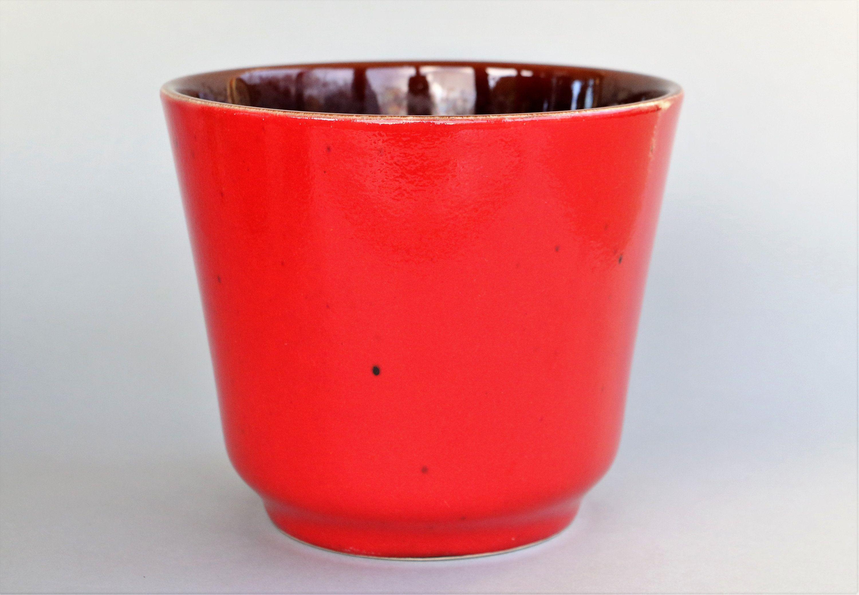 Large Ceramic Planter Red Plant Pot Retro Mid Century Modern Bay 43 16 Modernist Flower Pot Or Cact Large Ceramic Planters West German Pottery Ceramic Planters