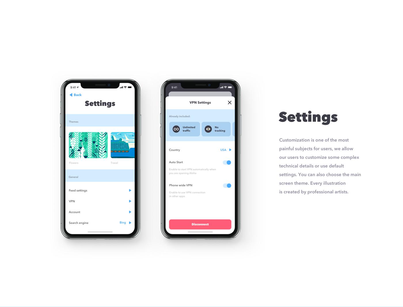Aloha Browser on Behance | Ui Design | Ui design, Web