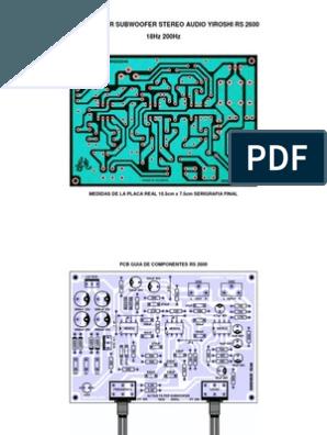 Active Filter Subwoofer Stereo Audio Yiroshi 1 Audio Amplifier Diy Amplifier Power Amp