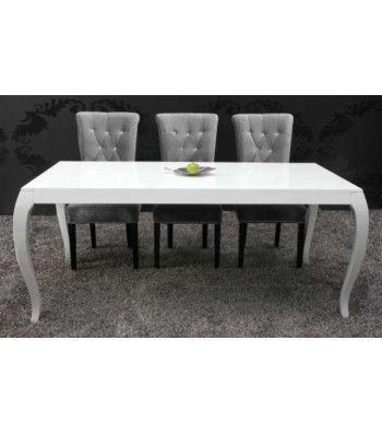 Chateau  French Design Dining Table 180Cm White High Gloss Table Fascinating White Gloss Dining Room Table Review