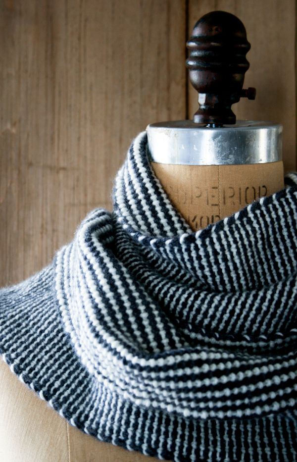 Knit Striped Scarf Pattern : Lauras Loop: Reversible Stripes Scarf Purl Soho Purl Soho-Knitting ...