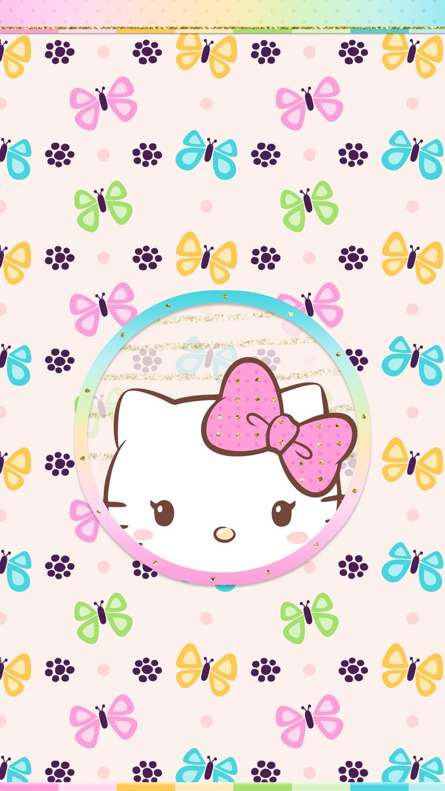 Spring Butterfly Wallpaper Android Iphone Cute Hello Kitty Hello Kitty Wallpaper Hello Kitty Backgrounds Kitty Wallpaper