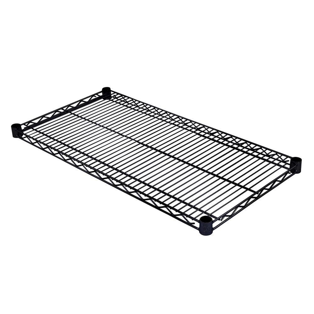 Excel 48 in. W x 18 in. D Individual NSF Wire Shelf in Black, Black ...