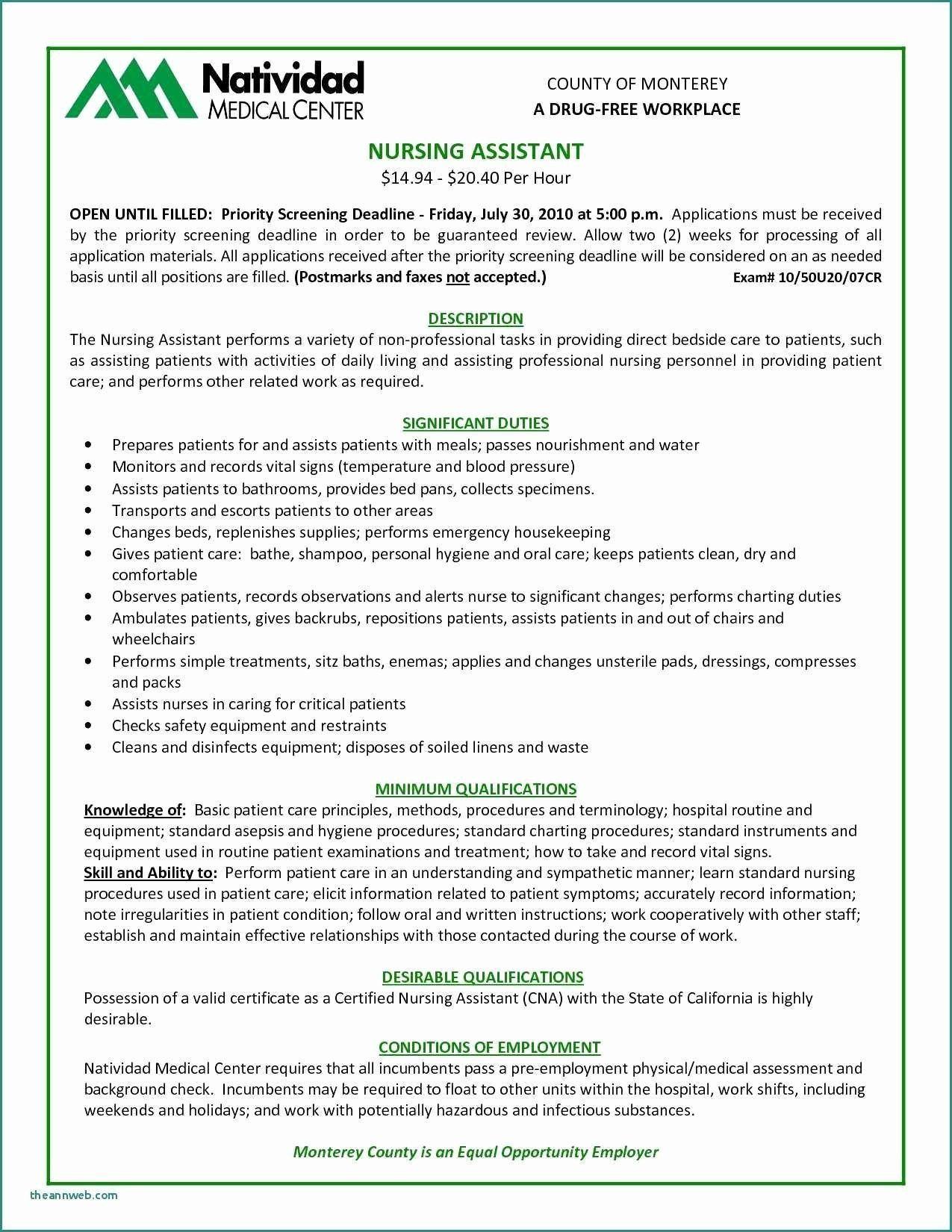 Sample Resume for Medical assistant Inspirational Medical