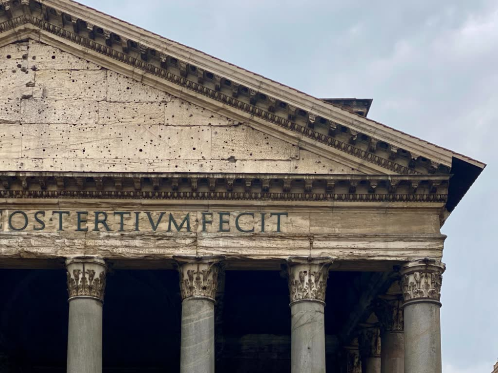 The Meaning of the Inscription on the Pantheon - An American in Rome