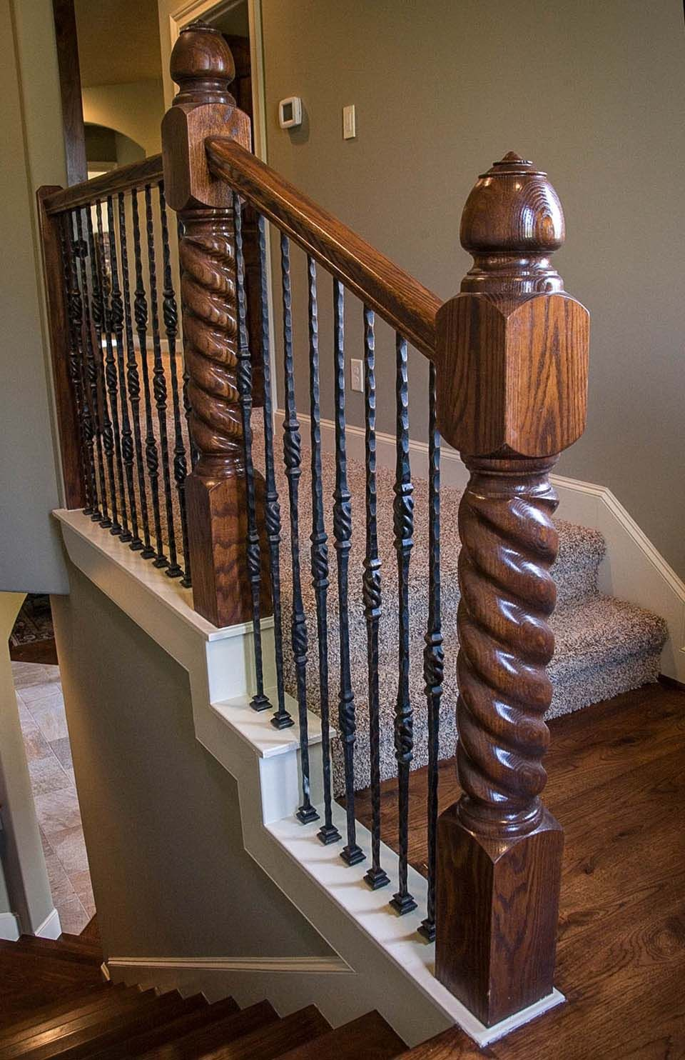 Rustic Staircase Rustic Stairs Wrought Iron Staircase Rustic