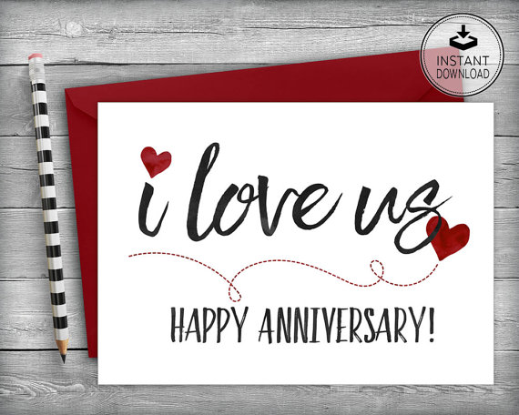 Happy Anniversary Card Valentines Card Romantic Card Etsy Free Printable Anniversary Cards Printable Anniversary Cards Happy Anniversary Cards