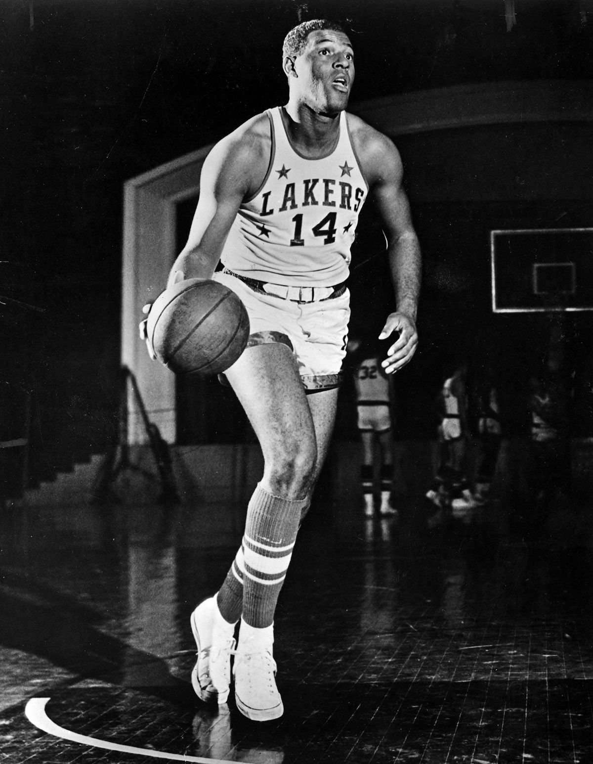 April 22, 1958...and with the first pick of the 1958 NBA Draft, the Minneapolis Lakers select, Elgin Baylor, of Seattle University. Baylor would go on to average 25 points, 15 rebounds and 4 assists in his rookie season.