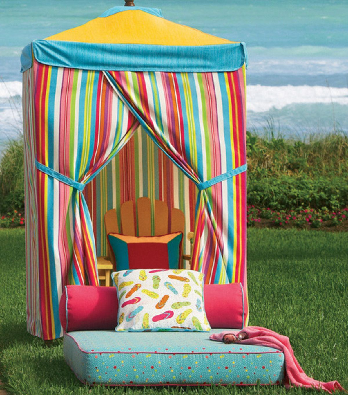 Diy Cabana Curtains We Would Love To Have This In Our Backyard Cabana Diy