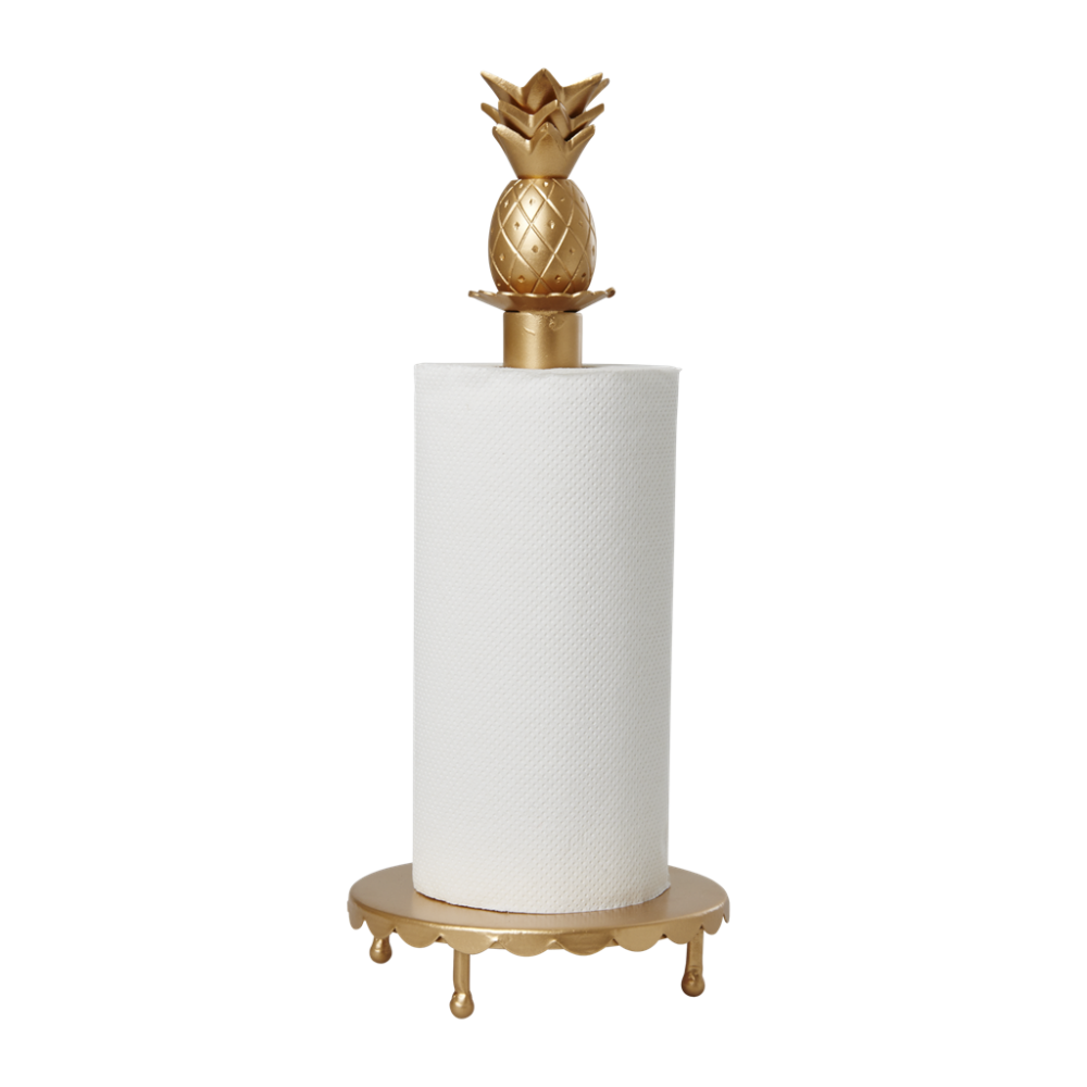 Gold Paper Towel Holder With Pineapple Decoration By Rice Dk