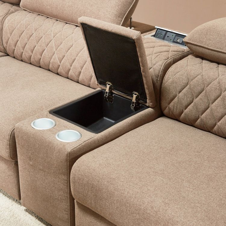 كنبة ركني ة 5 مقاعد قماش بمساحة تخزين من جاسبر طوبي داكن Music Instruments Stuff To Buy Turntable