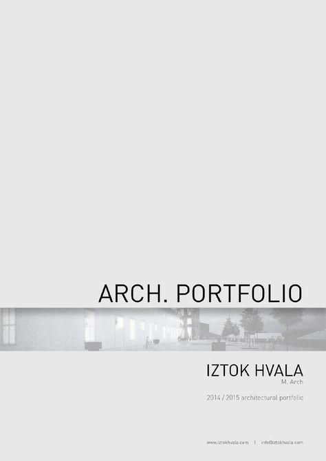 Iztok Hvala_Architectural portfolio Iztok Hvala M Arch