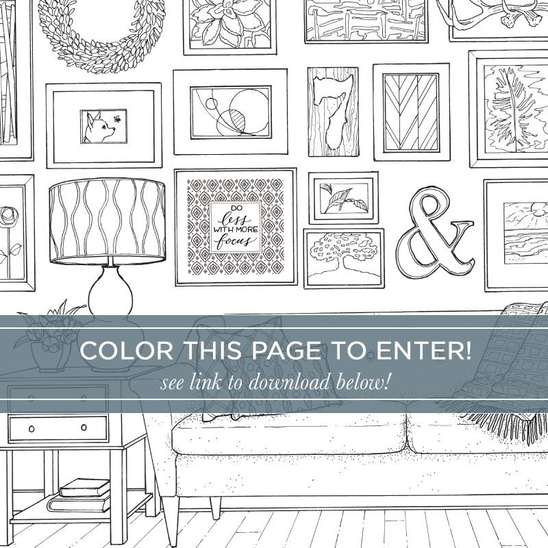 Color at Home - A Young House Love Coloring Book of Interior Design ...