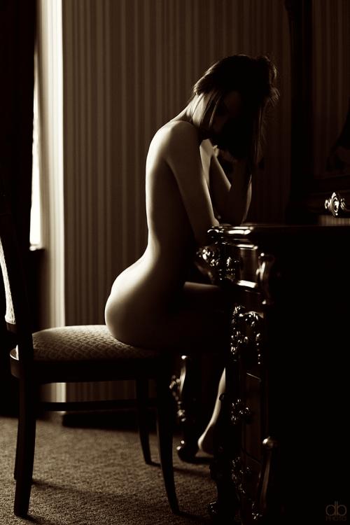 Nackt Am Schreibtisch