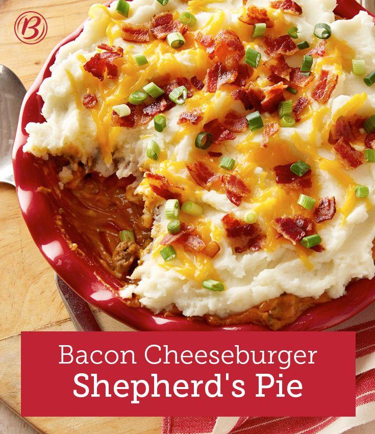 Bacon Cheeseburger Shepherd's Pie