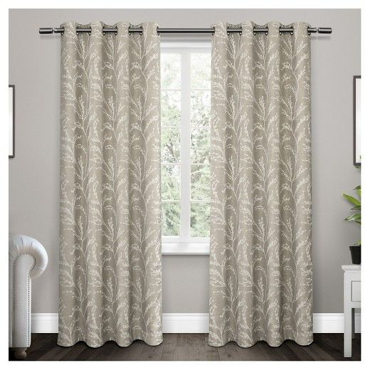 Kilberry Woven Blackout Grommet Top Window Curtain Panel Pair