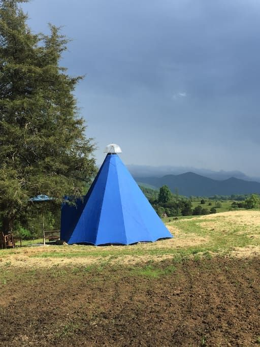 Tipi With A Great View Of The Blue Ridge Mountains