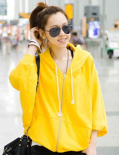 Autumn Stylish Batwing Sleeve Hooded Cotton Coat _Hoodies_Outerwear_Wholesalekingdom.net