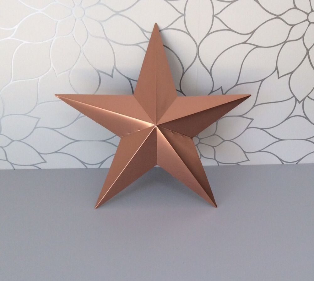 Large Metal Amish Style Barn Star with Copper/ Rose Gold Finish ...