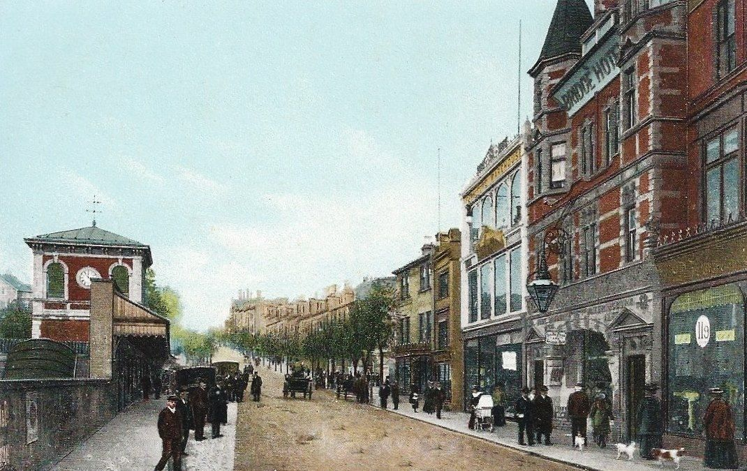 Looking up mount pleasant in this handtintedcolour pre