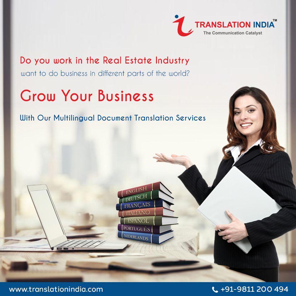we provide document translation services for real estate