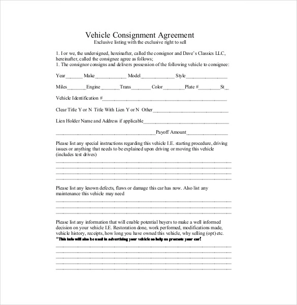 Consignment Agreement Templates 14 Free Word Pdf Samples Contract Template Agreement Templates