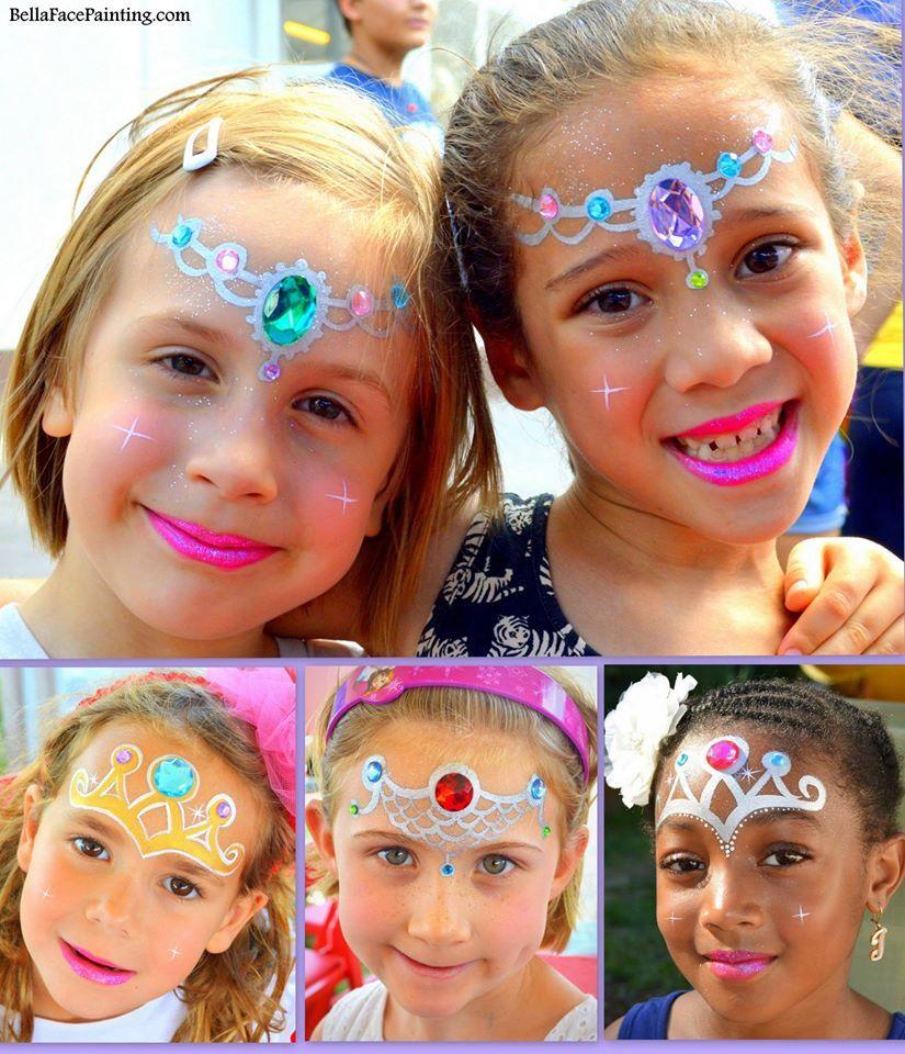 Quick Princess face panting bling spiration! | Face paint ...