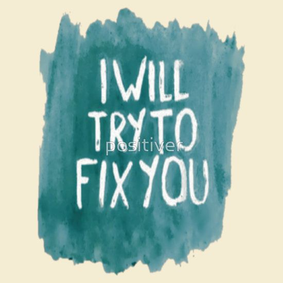 I Will Try To Fix You Sticker Guitarcasedeco Coldplay Fixyou