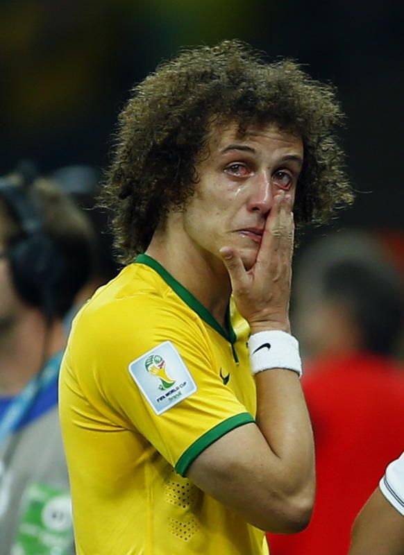 Brazil s Luiz cries after his team lost to Germany in their 2014 World Cup  semi-finals at the Mineirao stadium in Belo Horizonte to many of us you are  a ... 68b61e0ab2b21