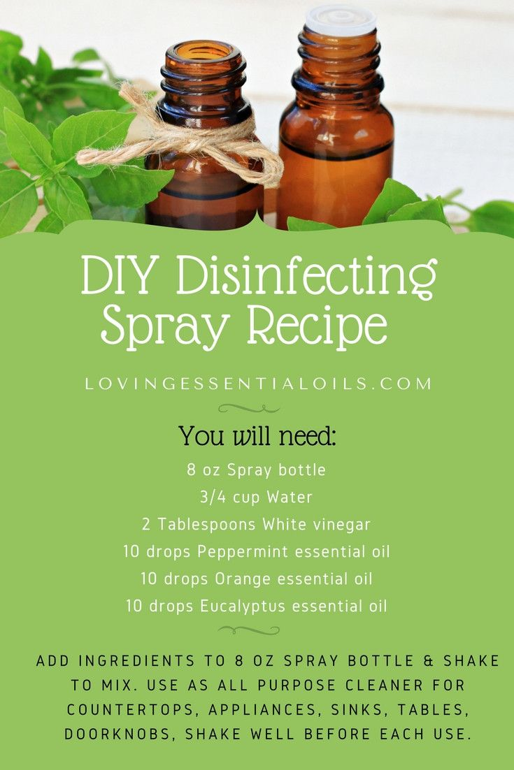 Disinfecting Spray With Essential Oils Essential Oils Cleaning